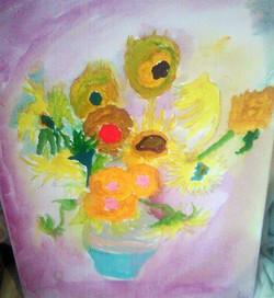 My version of Van Gogh's Sunflowers
