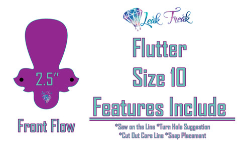 Size 10 Front Flow Flutter/One Size Only/2 5