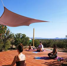 Yoga on the Shanti Yoga Deck