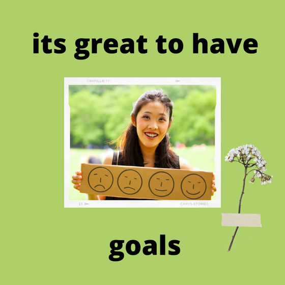 Its great to have goals!