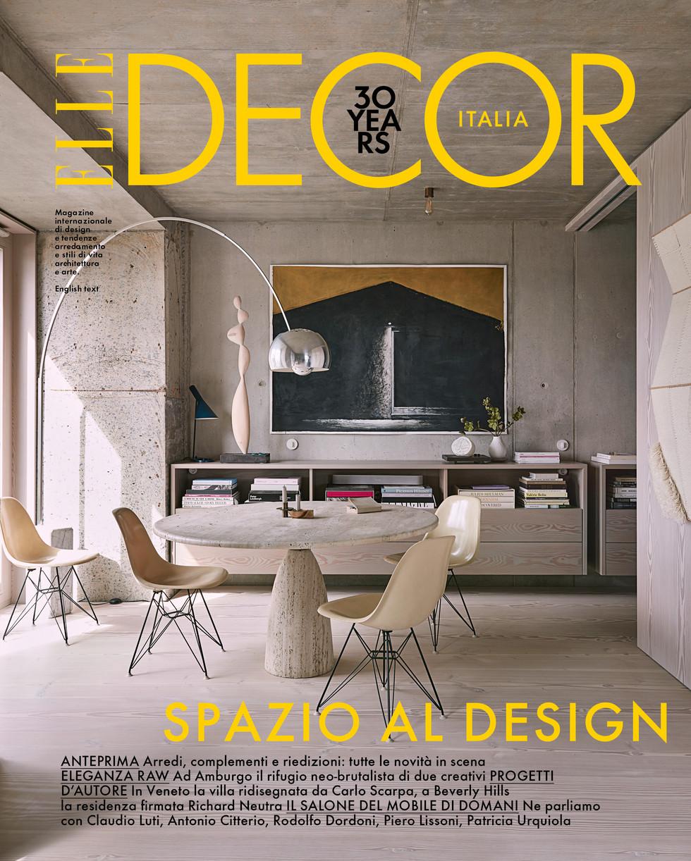 """Veröffentlichung in dem Magazin """"Elle Decor"""", Italien, 2020 Projekt Bunker Hamburg"""