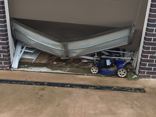 Damaged garage door was repaired
