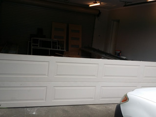 Garage door off track after fix north shore St. Ives