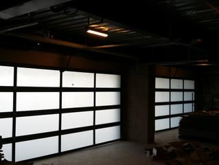 Tempered Glass Garage Doors