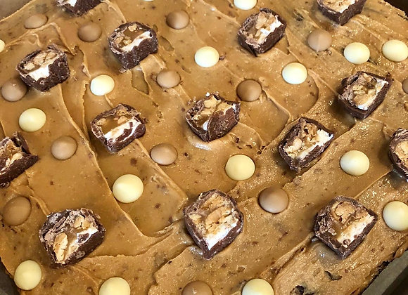 Peanut Butter & Snickers Brownie Tray