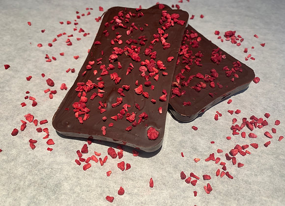 Dark Chocolate Filled Raspberry Slab