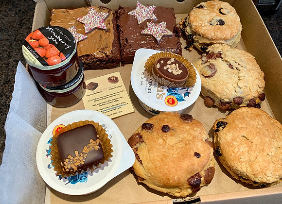 Delivery Sunday 14th June - Afternoon Tea Brownie Box - Local Delivery Only