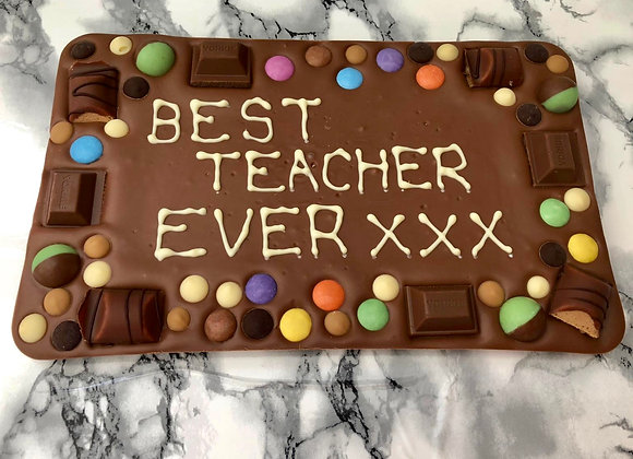 Teachers Gift Giant Milk Chocolate Slab - 600g - Local Delivery Only