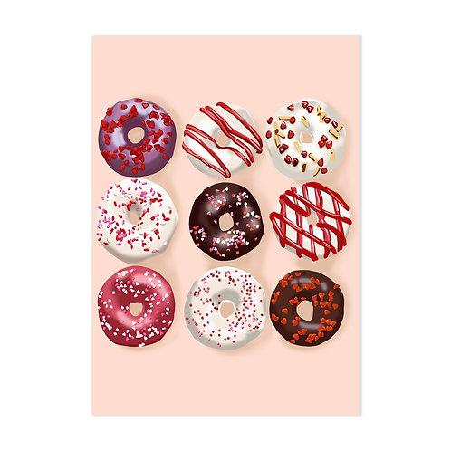 Crazy Donuts - Affiche impression (A3|A4|A5|CP)
