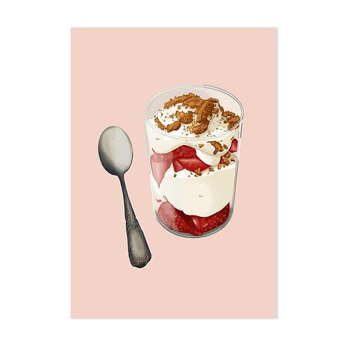 Parfait à la fraise - Affiche impression (A3|A4|A5|CP)