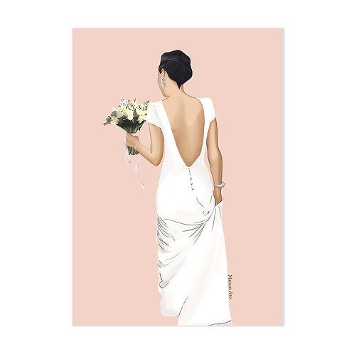 La mariée - Affiche impression (A3 A4 A5 CP)