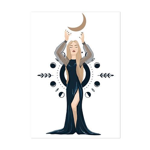 La sorcière - Affiche impression (A3|A4|A5|CP)