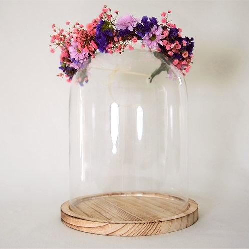 Couronne de fleurs fraîches | rose et violet