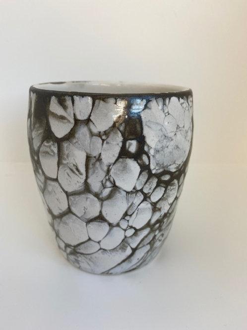 Vase med sæbebobelglasur