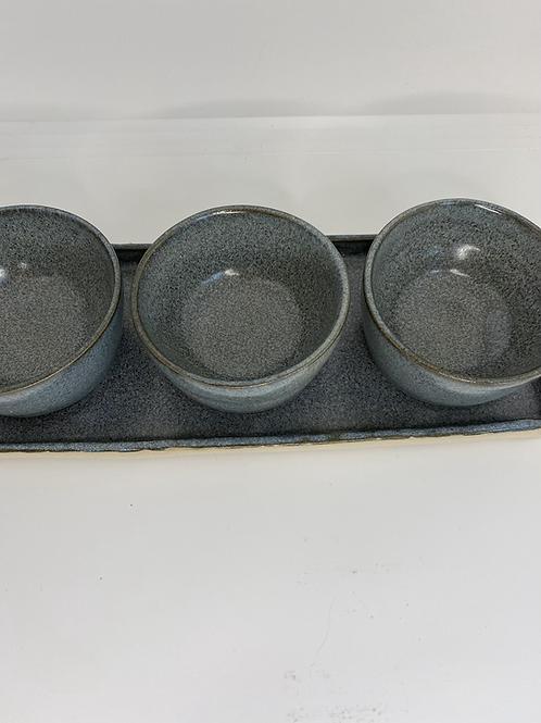 Tapas-fad med 3 skåle