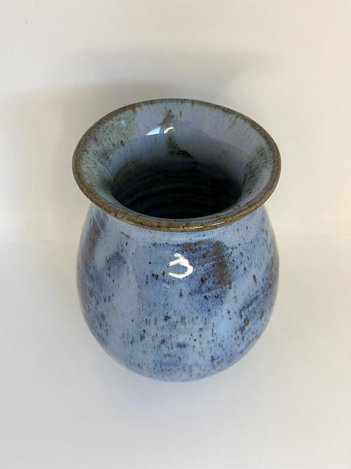 Stor vase med farvespil