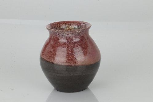 Vase - sort ler med rosa