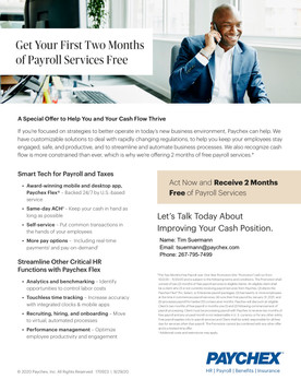 Paychex 2 Months Free Payroll Promotion