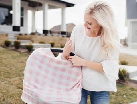 Copper Pearl Gingham Multi Use Cover