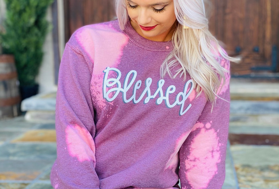 Blessed Bleached Pullover