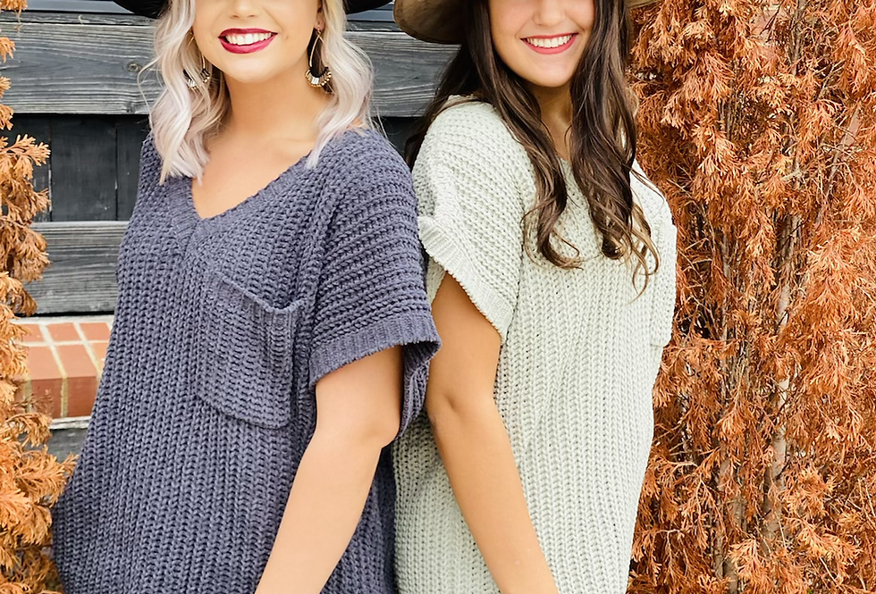 Not Your Basic Sweater in Charcoal