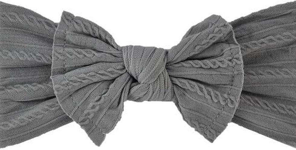 BRITTs BOWs Headband (grey)