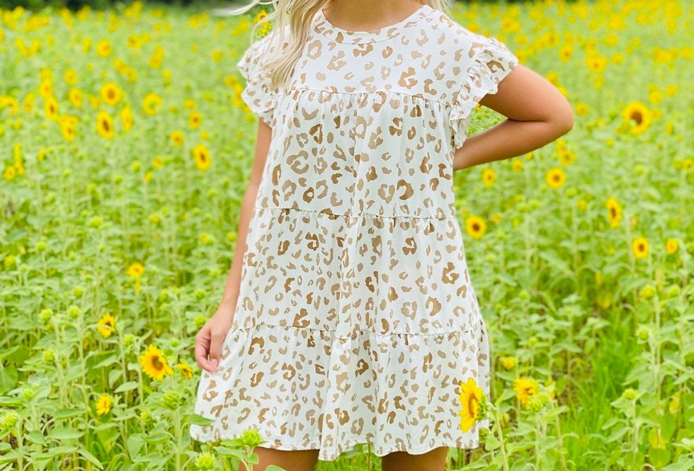 Cream Cheetah Dress