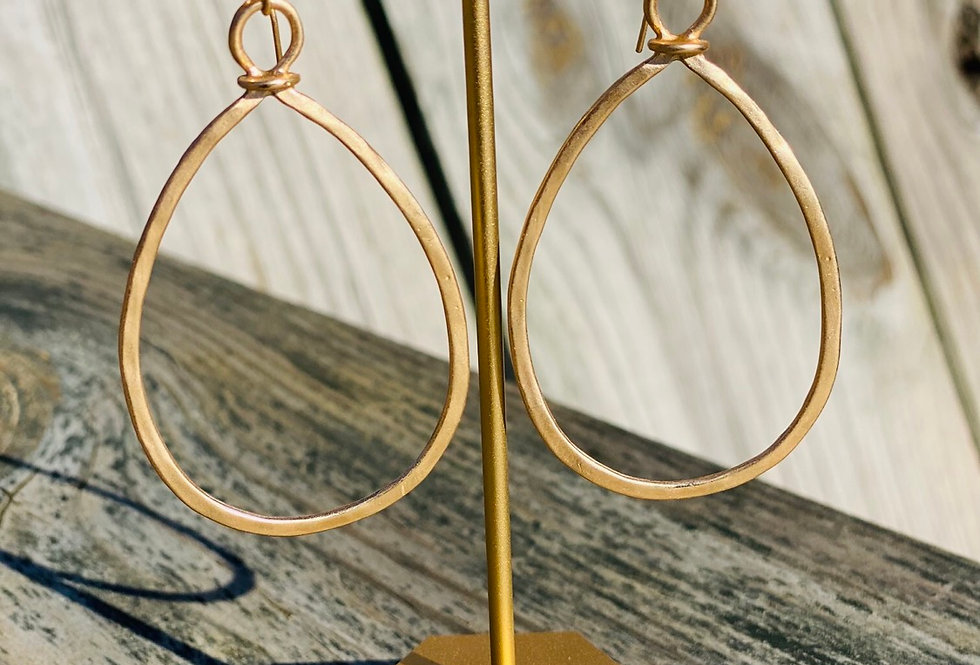 Looped Together Teardrop Earrings in Gold