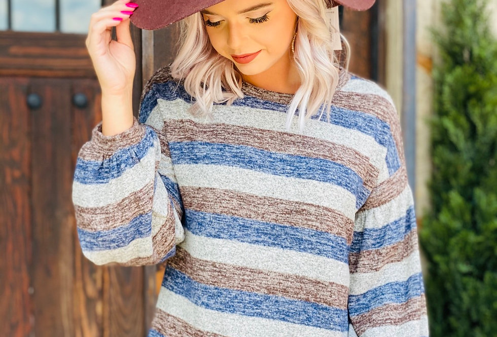 Striped Right Long Sleeve Top