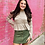 Thumbnail: Corduroy Cutie Skirt in Olive