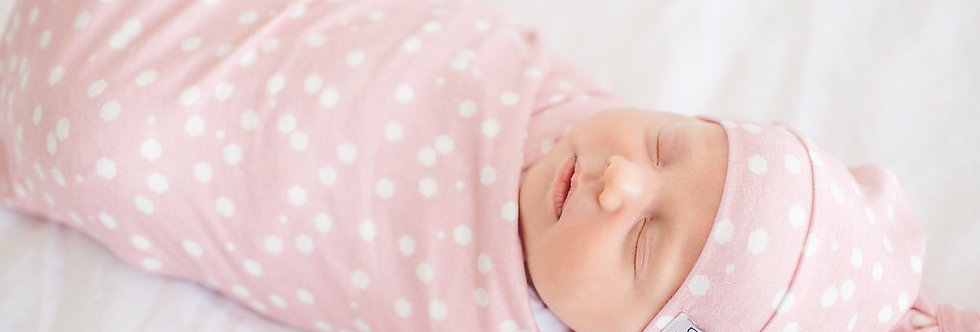 Copper Pearl Swaddle w/ Knotted Hat (lucy)