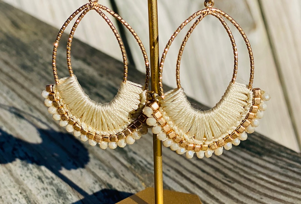 Flare For Life Earrings in Cream