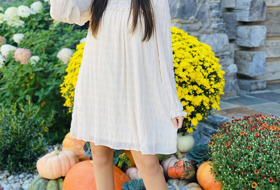 Frilled To Meet You Dress in Cream