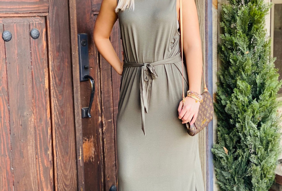 Just This Sway Dress in Olive