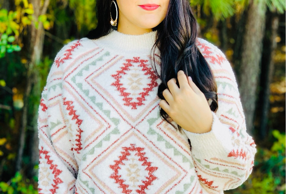 Knits Never Too Late Aztec Sweater