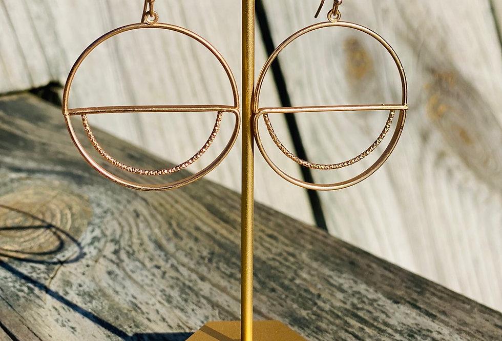 Full Moon Earrings in Gold