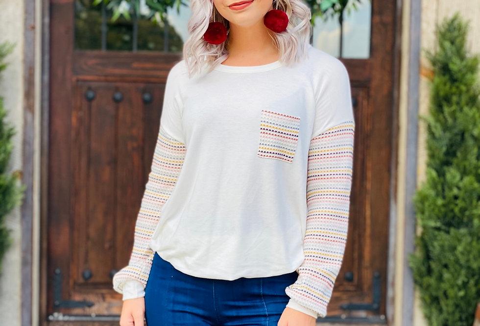 Just Right Rainbow Stripe Top