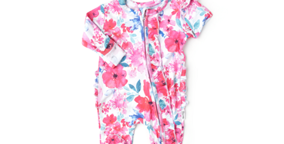 Floral Zipper Coverall