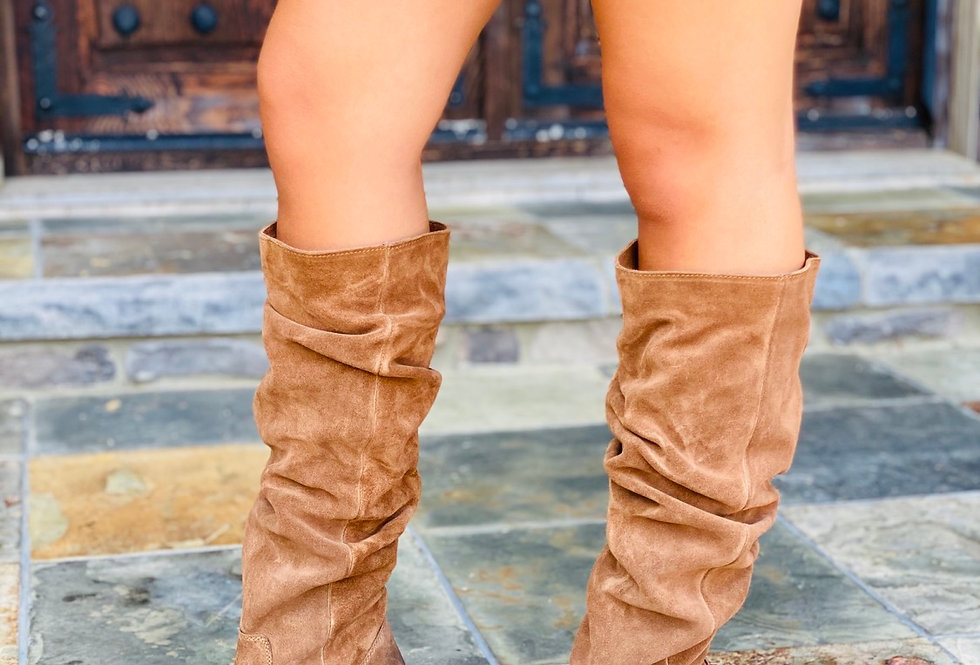 Walk the Line Slouchy Knee High Boots
