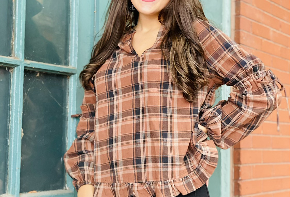 Check Me Out Plaid Top