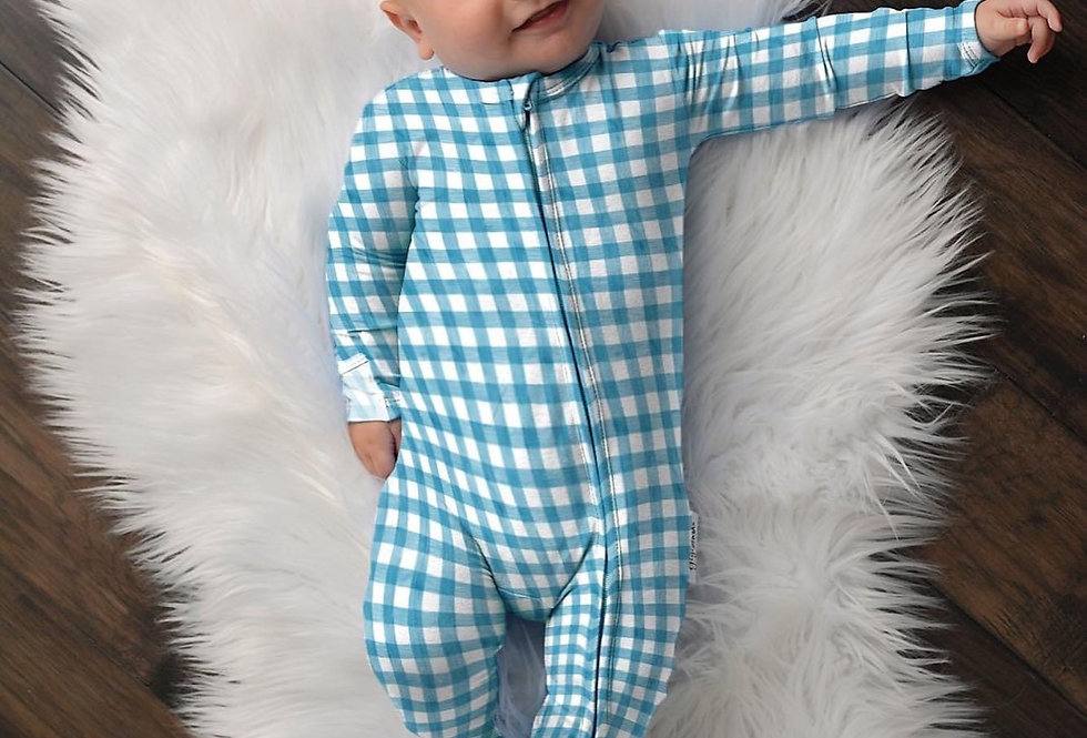 Gigi & Max Blue Gingham Coverall