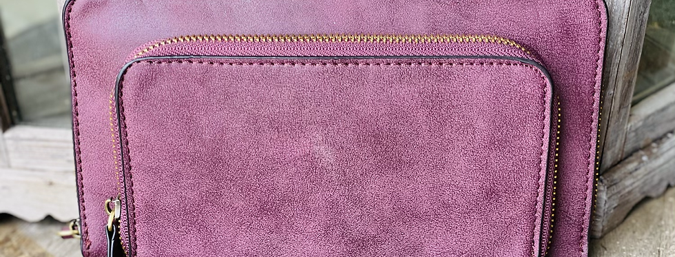 Day Date Convertible Wallet in Plum