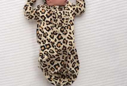 Gigi & Max Cheetah Gown w/ Headband