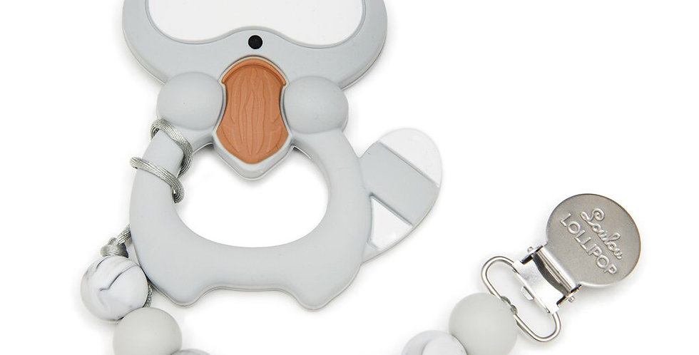 Loulou Lollipop Silicone Teether/Paci Clip