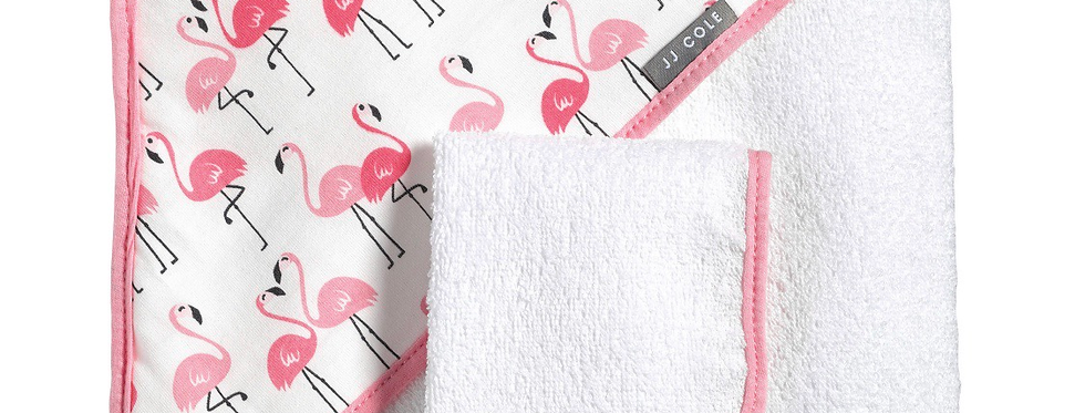 JJ Cole Flamingo Hooded Towel