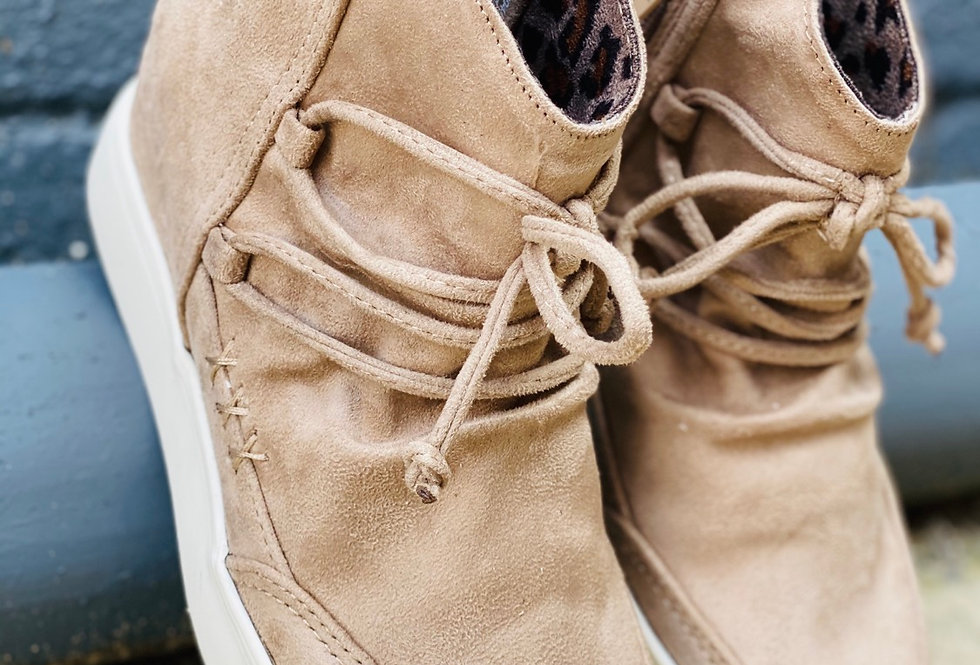 A Step Above Sneakers in Tan