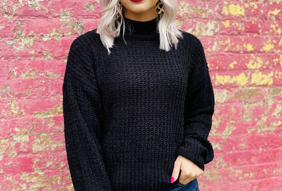 Just One Love Sweater in Black