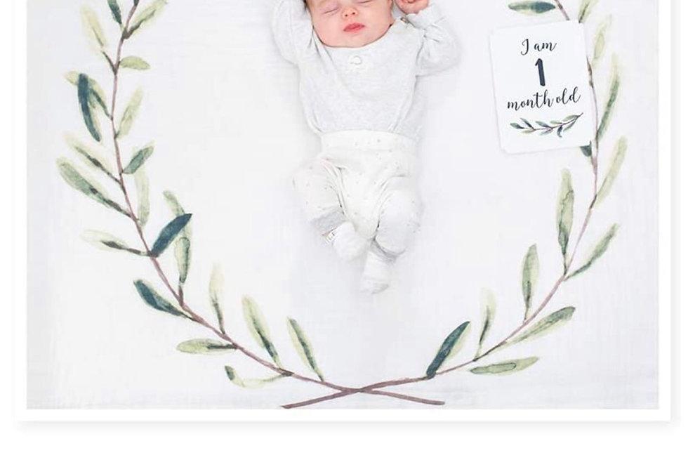 LuluJo First Year Blanket w/ Cards