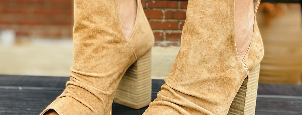 On The Up Suede Heels