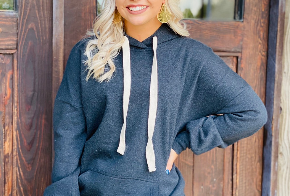 Cozy Hoodie in Charcoal
